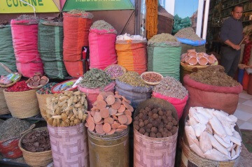 Spices in the streets of Marrakech